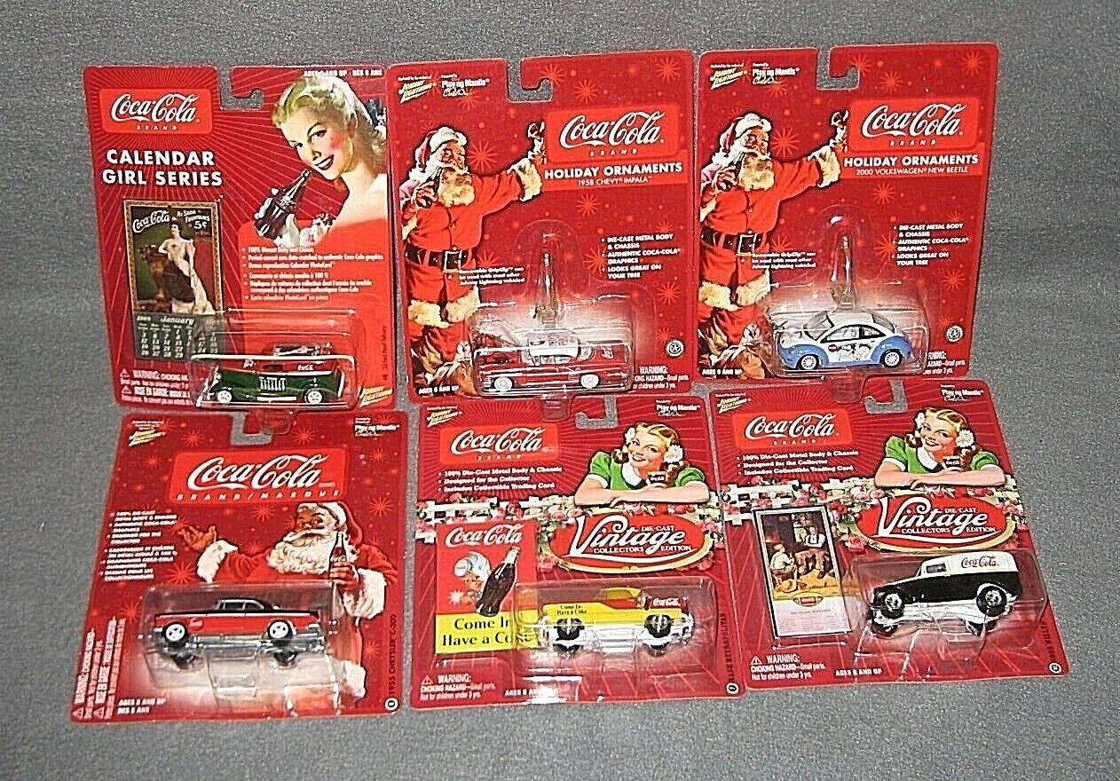 Johnny Lightning Holiday Holiday Holiday WHITE LIGHTNING lot of 6  IMPALA BEETLE NASH C-300 More 7efd94