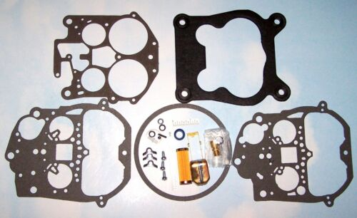 Rochester Quadrajet Carburetor Rebuild Kit 76-77 79-86 Chevy Brass Float Filter
