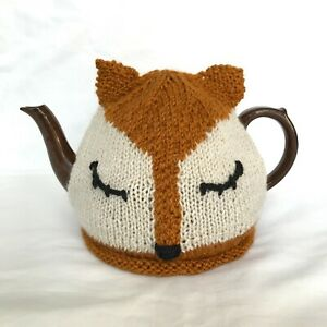 Fox-Knitted-Tea-Cosy-Handmade-Raising-money-for-E-Sussex-Wildlife-Rescue