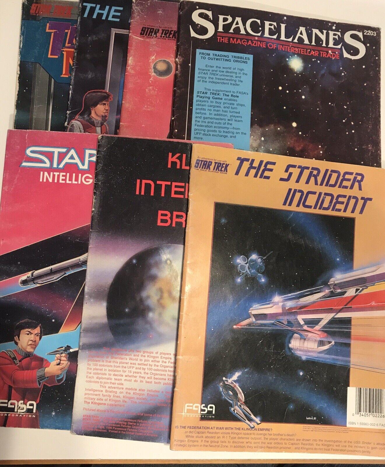 Vintage estrella  Trek Role Playing gioco libro magazine lot of 7 spazioLanes Fasa Corp  design semplice e generoso