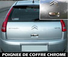 CITROEN C4 04-10 ENJOLIVEUR CHROME COUVRE POIGNEE COFFRE CACHE PORTE HAYON MALLE