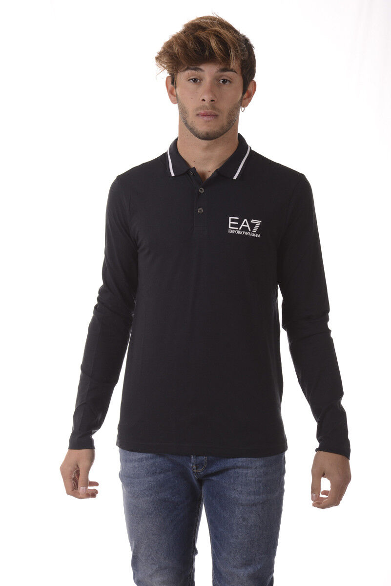 Polo Emporio Armani EA7 Shirt Cotone  Herren Blu 6YPF54PJ03Z 1578
