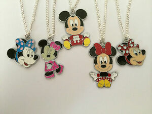 Mickey minnie mouse childs necklace pendant girls for Minnie mouse jewelry box