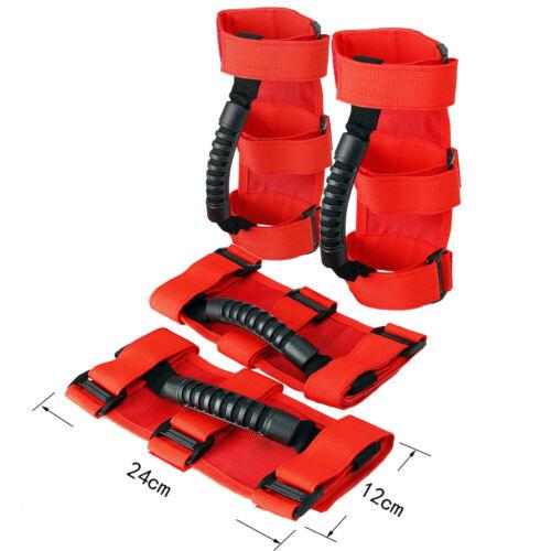 4Packs Roll Bar Grab Handle Grip Handle for Jeep Wrangler YJ TJ JK JK JL JLU New