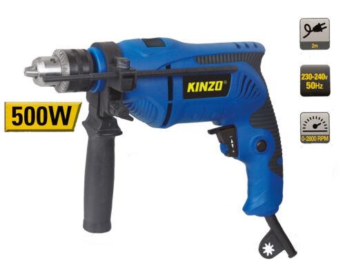 Kinzo 500 W coup de perceuse perceuse marteau perforateur une perceuse NEUF