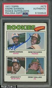 1977 77 TOPPS ANDRE DAWSON ROOKIE CARD SIGNED PSA DNA AUTOGRAPH HOF