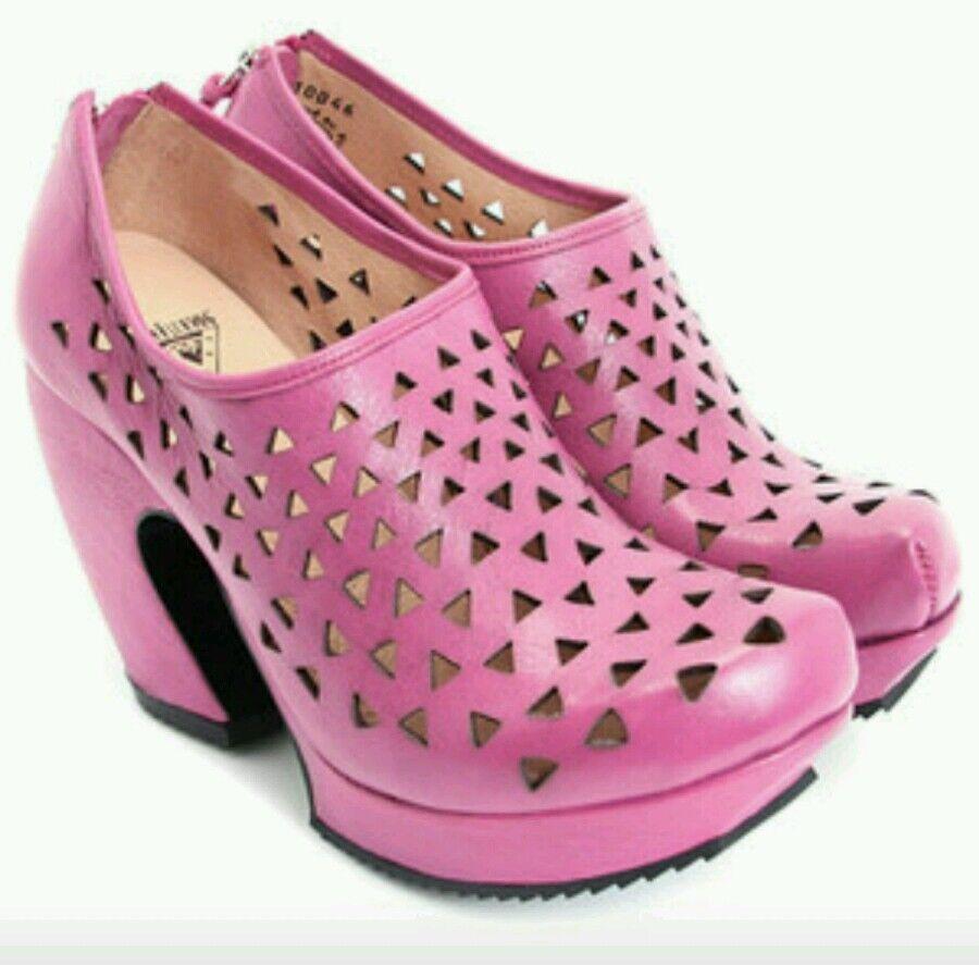 moda classica  365 JOHN FLUEVOG PREPARE HI HI HI  RAPPEL PLATFORM scarpe 9 FUCHSIA LEATHER  consegna rapida