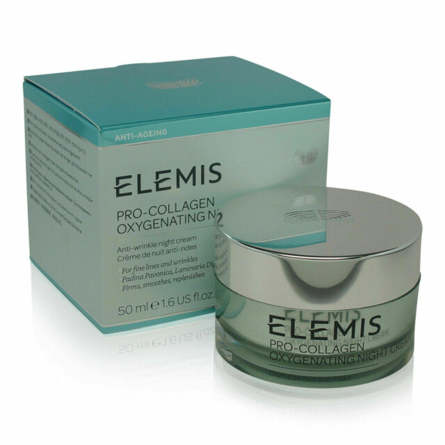 Elemis Pro Collagen Oxygenating Night Cream 1.6oz / 50ml FREE SHIPPING New Box
