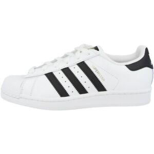 heiß Dettagli su Adidas Superstar Scarpe Donna Retro Classici Sneaker Donna Bianco C77153  im Angebot