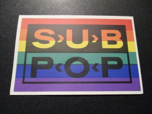 "SUB POP RECORDS SEATTLE 4.5/"" RAINBOW LOGO Sticker Decal pearl jam nirvana"