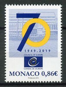 Monaco-2019-MNH-Council-of-Europe-70-Years-1v-Set-EU-Politics-Stamps