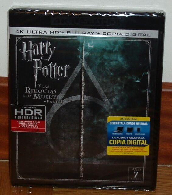 HARRY POTTER Y LAS RELIQUIAS DE LA MUERTE 2 PARTE 4K ULTRA HD+BLU-RAY NUEVO R2