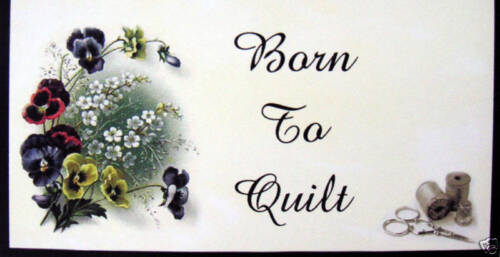 BORN TO QUILT CHECKBOOK COVER