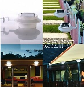 3-LED-Solar-Powered-Fence-Gutter-Light-Outdoor-Garden-Yard-Wall-Pathway-Sun-Lamp