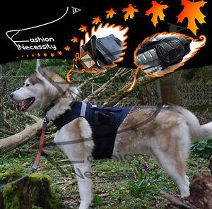Big-Dog-Denim-Pocket-Vest-Reflective-Jumper-Husky-Greyhound-Clothes-M-L-XL