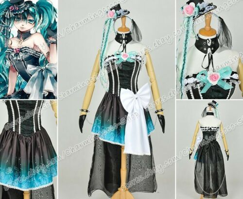Vocaloid NightBaron Queen Of The Night Cosplay Hatsune Miku Luxury Costume New