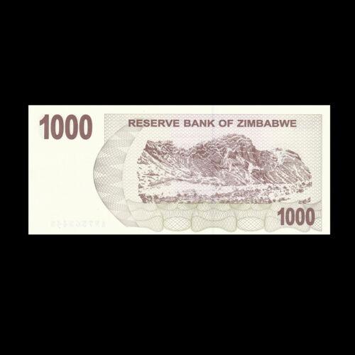 2006//2007 UNC Zimbabwe 1000 Dollars P-44