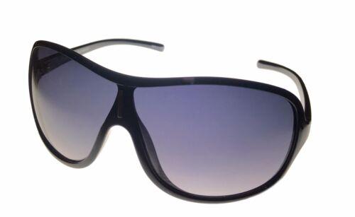 Smoke Gradient Lens  PE09 01 Perry Ellis Mens Sunglass Black Plastic Shield