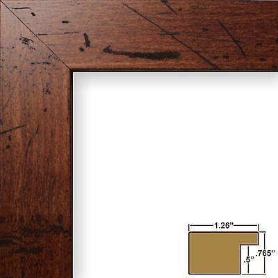 """Craig Frames Bauhaus, 1.25"""" Modern Rustic Dark Walnut Brown Picture Frame"""