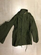 m65 jacket, olive, vintage,usa, made 80's,nos, gi contractor,SMALL reg