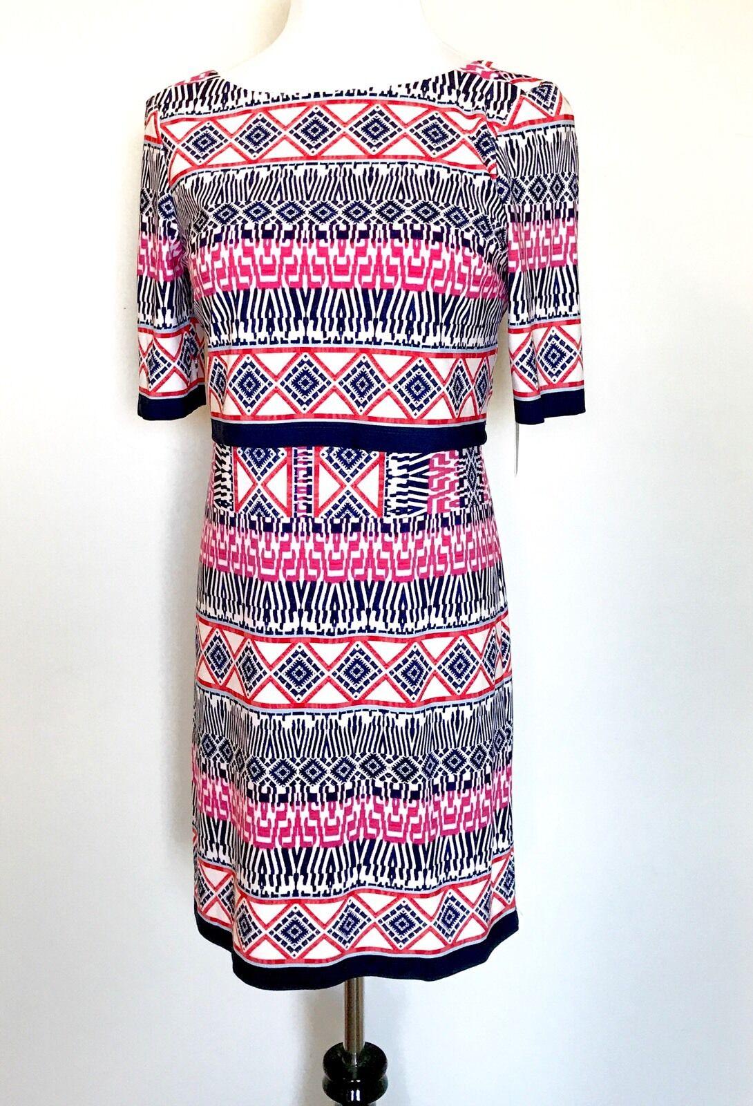 Eliza J Rosa Graphic Print Stretch Dress NWT Retails  Price  Größe 6P