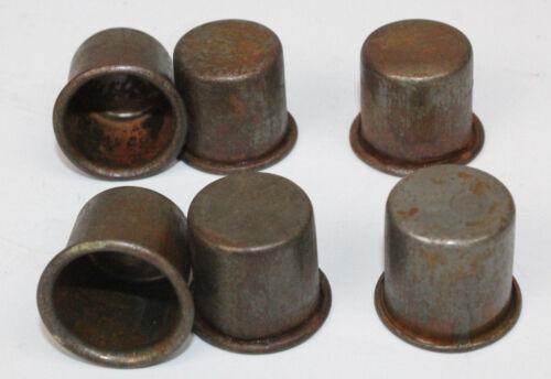 6 VINTAGE STYLE METAL SPOUT DUST CAPS for MASTER OIL BOTTLE SPOUTS