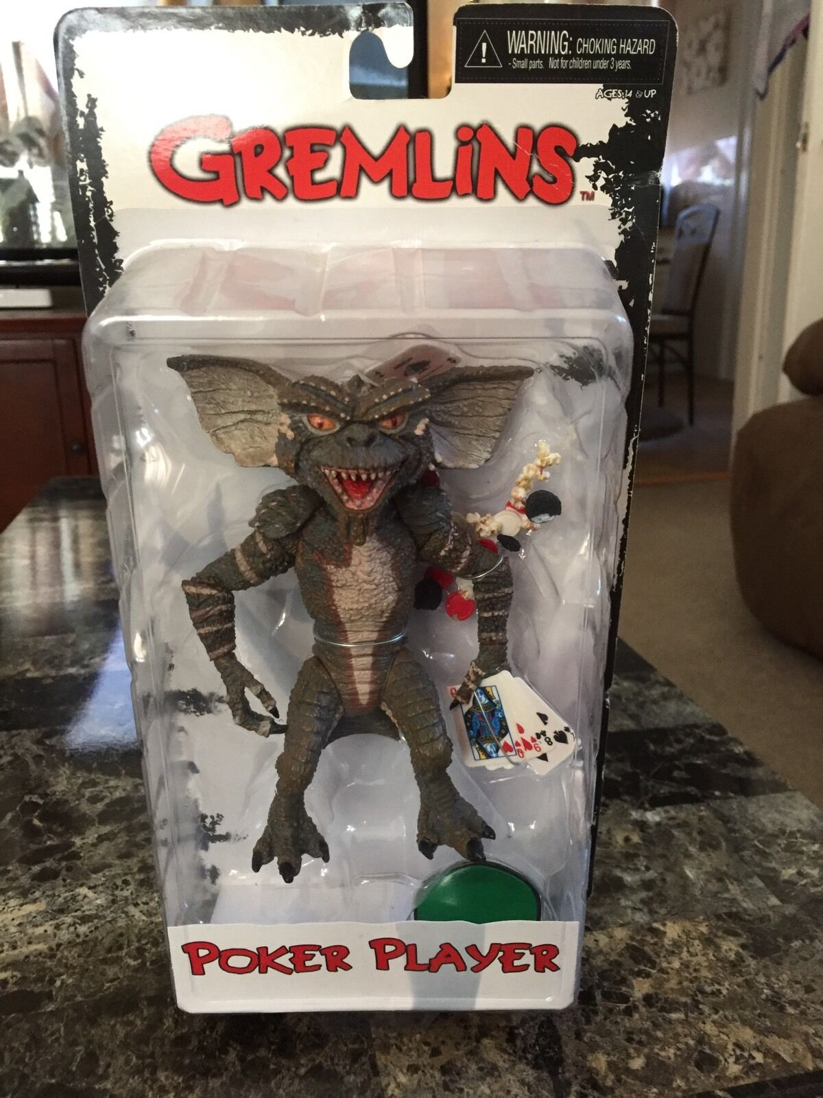 NECA Gremlins Poker Player 6 Inch Reel Toys Sealed
