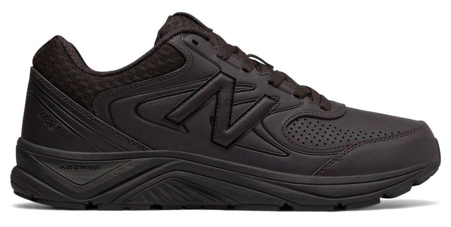 New Balance MW840BR2 Men's 840v2 Brown Leather Cushioned Walking Sneaker shoes