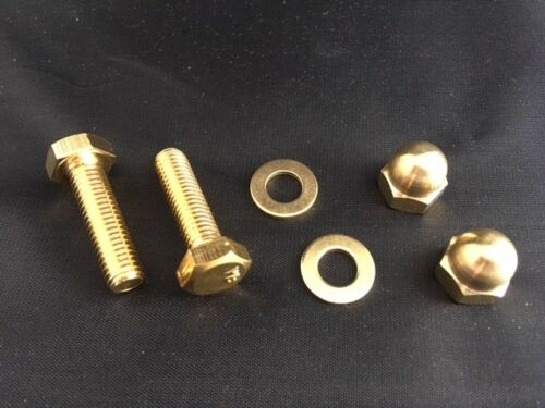 Washers DIN 933 M8 or M10 Brass Set Screws Full Thread Bolts With Brass Nuts