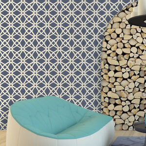 large wall stencils for paintingLarge Moroccan Wall Stencil Geometric Lattice for Easy DIY Wall