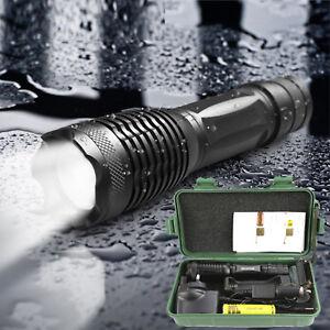 LINTERNA LED RECARGABLE TACTICA POLICIAL ZOOM DE LED CREE T6 +Cargador +Bateria