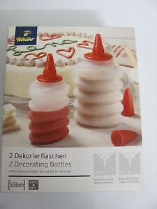Tschibo - Silikon - 2 x Dekorierflaschen - Deutschland - Tschibo - Silikon - 2 x Dekorierflaschen - Deutschland