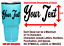 YOUR-TEXT-Vinyl-Decal-Tumbler-Sticker-Window-Bumper-CUSTOM-Personalized-Cup-Name thumbnail 3