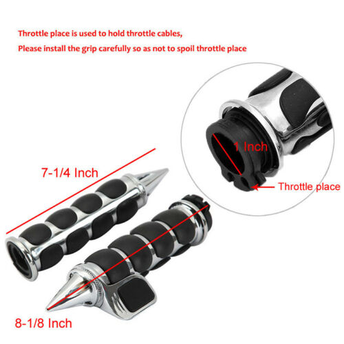 "1/"" Handlebar Hand Grips For Yamaha V-Star XVS 650 950 1100 1300 Classic Stryker"