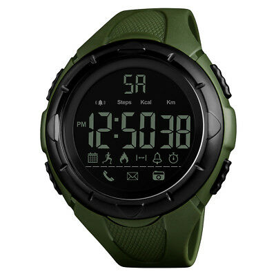 SKMEI Men's Smart Watch Bluetooth Digital Military Sports Wrist Watch Waterproof