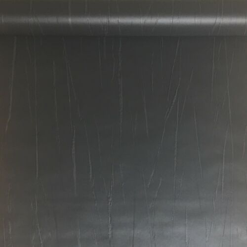 Rasch Black Tree Bark Faux Leather Effect Non Woven Vinyl Wallpaper 605983