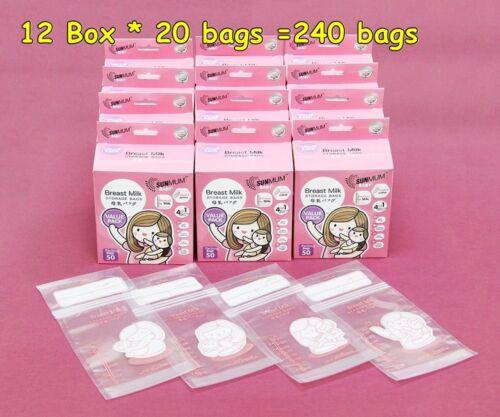 SUNMUM BREAST MILK STORAGE 15 BAG STERILIZED PLASTIC BAG TRIPLE ZIPPER BPA FREE