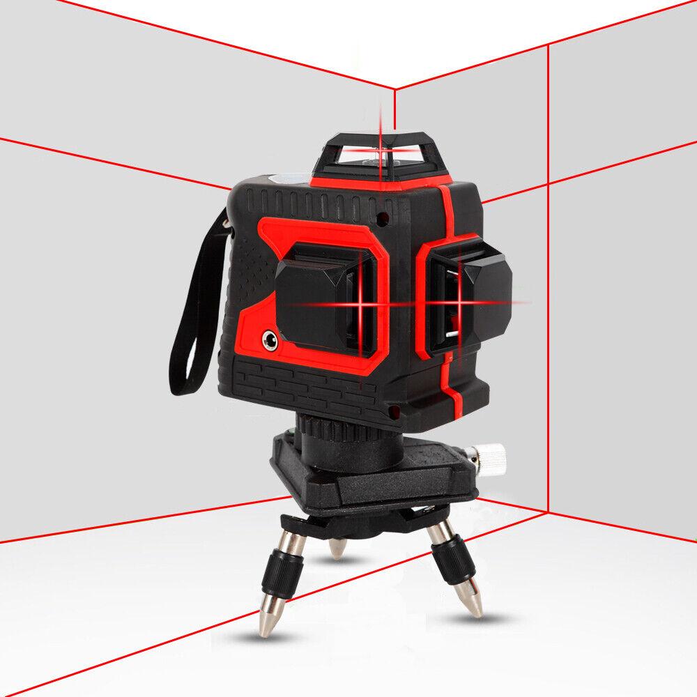 Self-Leveling rot Laser Level 12 Lines 360° Waterproof & Dustproof Measure Tool