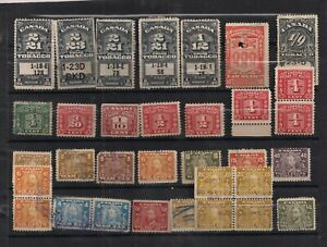 EARLY-USED-CANADA-REVENUE-STAMP-LOT-TOBACCO-EXCISE-WAR-TAX-KGV-AS-IS