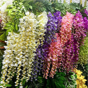 10pcs Artificial Flower Vines Wisteria Decoracion Para Bodas Wedding Decorations