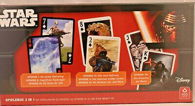 + + Star Wars + + Spielebox +++ Giochi Di Carte + + Episodio I-vii + + Asa + + Nuovo E Mattoncini-x+++kartenspiele++episode I - Vii++ass++neu Und Unbespielt It-it Mostra Il Titolo Originale