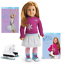 American-Girl-18-034-MIA-DOLL-In-MEET-OUTFIT-ICE-SKATES-BOOKS-Hazel-Eyes-Long-Hair thumbnail 1
