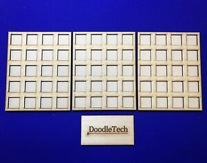 7×3 MDF laser cut MOVEMENT TRAY 20mm Infantry Bases