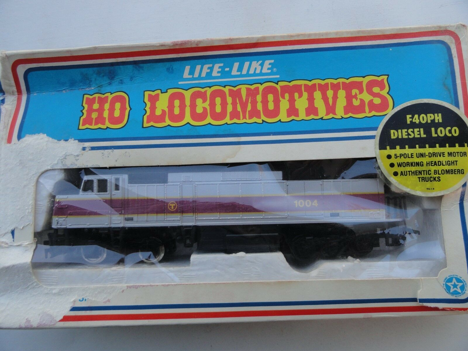 Vintage LIFE-LIKE  BOSTON T LOCOMOTIVE  1004  WORKINGCooltrainscollectable