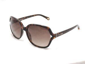 Fossil 3020/S Women's Sunglasses Oversized Rectangular 0V08 B1 Dark Havana #D77