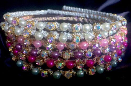 Whole Lot 6 NEW Fashion Headbands w Rhinestones US Seller