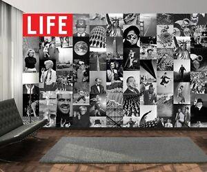 Details About Creative Collage 64 Piece Designer Wallpaper Life Magazine Bw Inc Paste