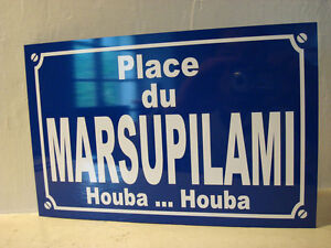 MARSUPILAMI-plaque-de-rue-objet-collector-edition-limitee-cadeau-original-houba