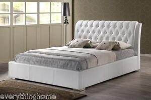 Queen-Or-King-Modern-White-Faux-Leather-Platform-Bed-Frame-Tufted-Headboard