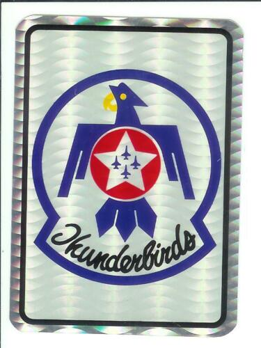 Thunderbirds Military Aircraft Jet Vintage Sticker Rare Armed Forces Decal